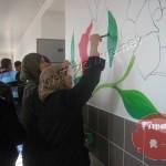 المركز الجماهيري ينجز مشروع تجميل في مدرسة دار الحكمة الثانوية