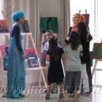 معرض من ابداعات طلاب دورات الفنون