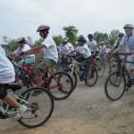 المركز الجماهيري أم الفحم يشارك في مسيرة الدراجات الهوائية