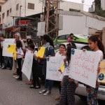 """مجموعة """"القائد الصغير"""" بالجماهيري تنظم وقفة احتجاجية ضد العنف"""