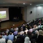 بروفيسور حسام حايك وبرفيسورة اليانور صايغ حداد في محاضرة علمية ثقافية في أم الفحم