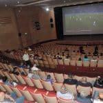 عرض مباراة منتخب مصر ضد منتخب روسيا على شاشة مسرح وسينامتك أم الفحم
