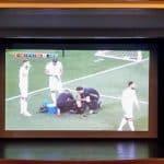 عرض مباراة إنجلترا - تونس على شاشة مسرح وسينماتك أم الفحم